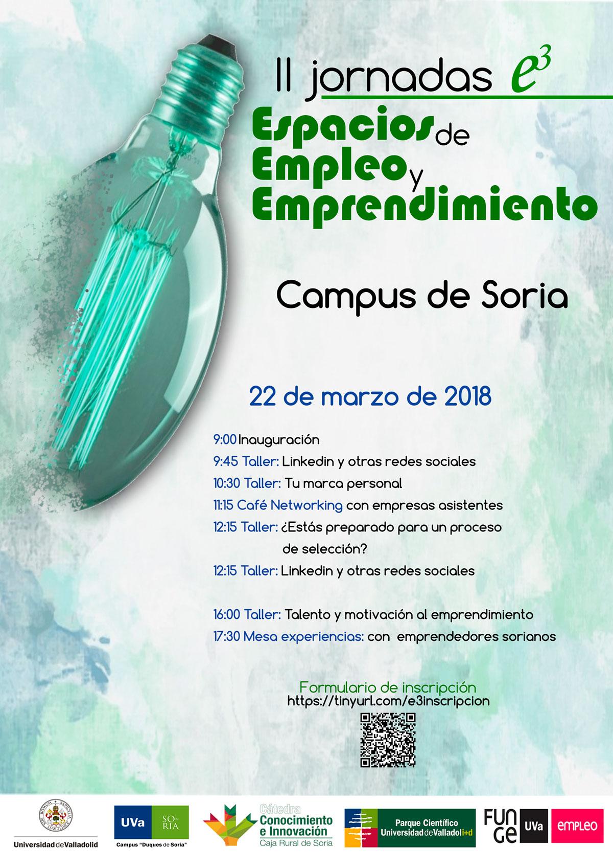 II Jornadas e3 Empleo y Emprendimiento Ciudad de Soria
