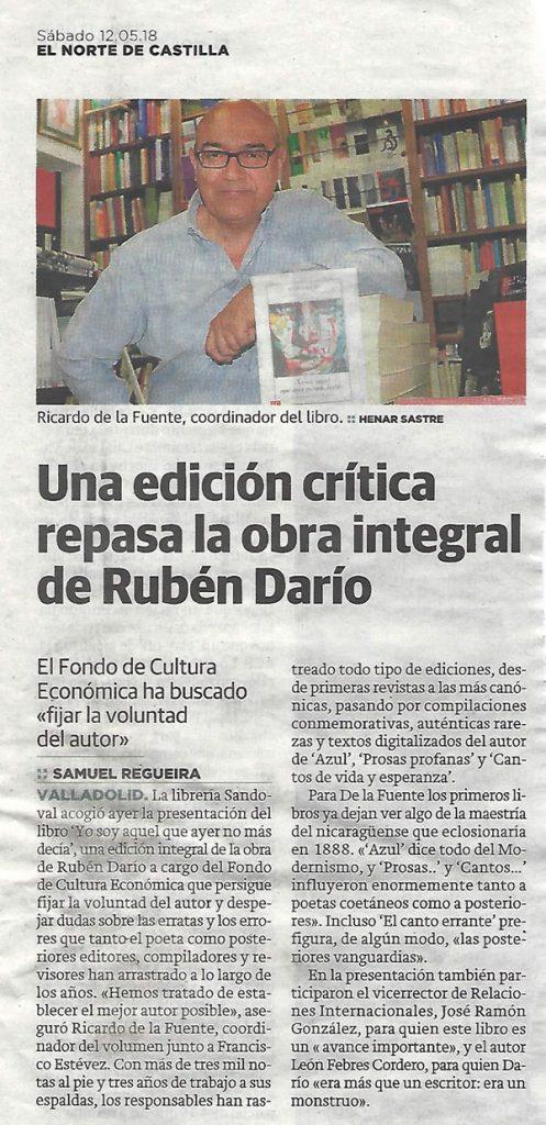 Una edición crítica repasa la obra integral de Rubén Darío