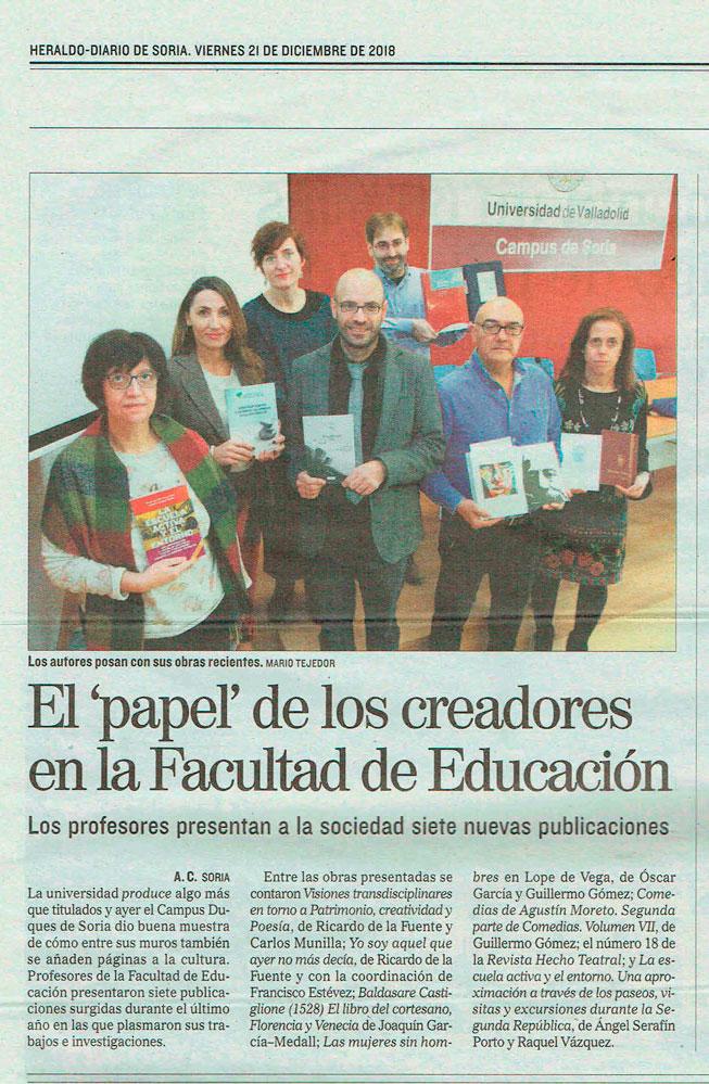 """El """"papel"""" de los creadores en la Facultad de Educación"""
