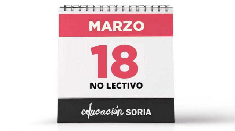 18 de marzo no lectivo